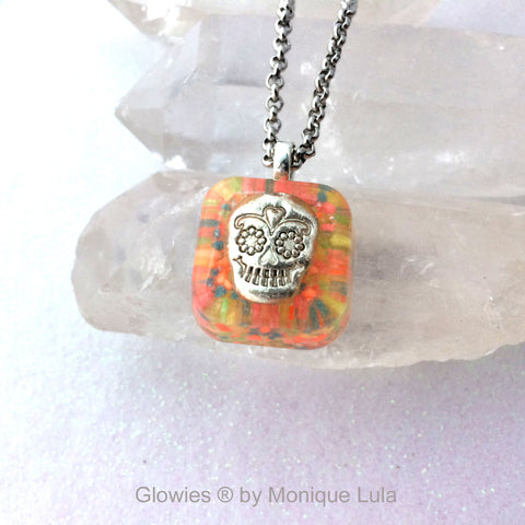 Sugar Skull Glow Necklace