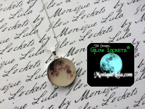 Sterling Silver Glowing Moon Necklace