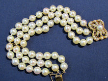 Load image into Gallery viewer, VINTAGE 14KT LAYKIN ET CIE AKOYA PEARL WITH AN ANTIQUE SEED PEARL CLASP