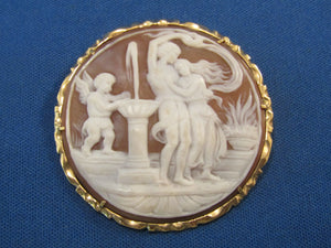 CLASSIC CARVED STONE CAMEO...GREAT CARVING