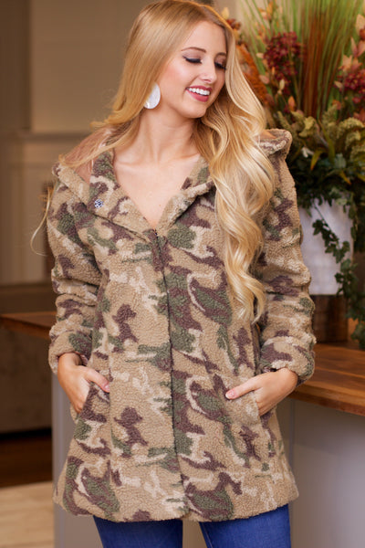 Can't Be Contained Camo Coat