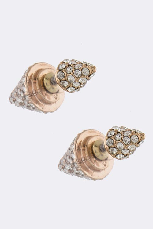 Crystal Spike Double-Sided Earrings - My Jewel Candy - 1