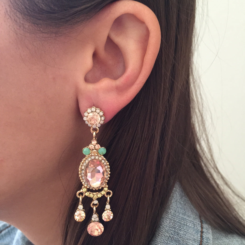 Pretty in Pink Crystal Earrings - My Jewel Candy