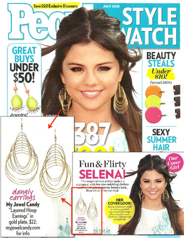 Layered Hoop Earrings (As seen on Selena Gomez & in People Style Watch Magazine) - My Jewel Candy - 1