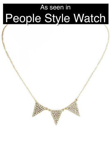 Triple Triangle Necklace - My Jewel Candy - 1