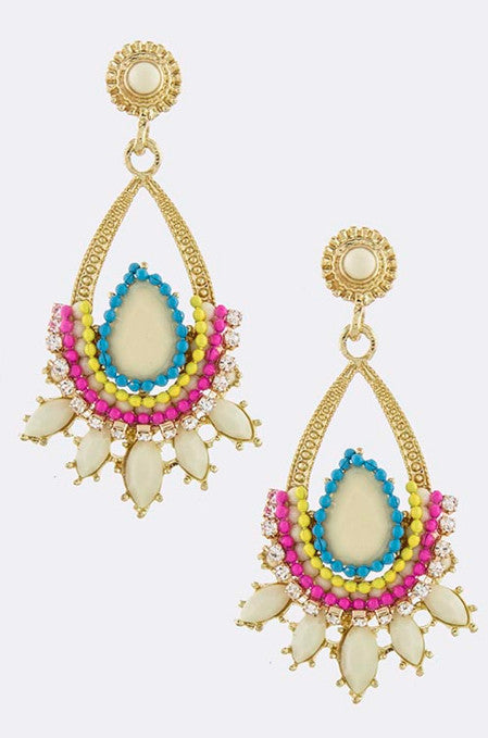 Cream Nirvana Earrings - My Jewel Candy
