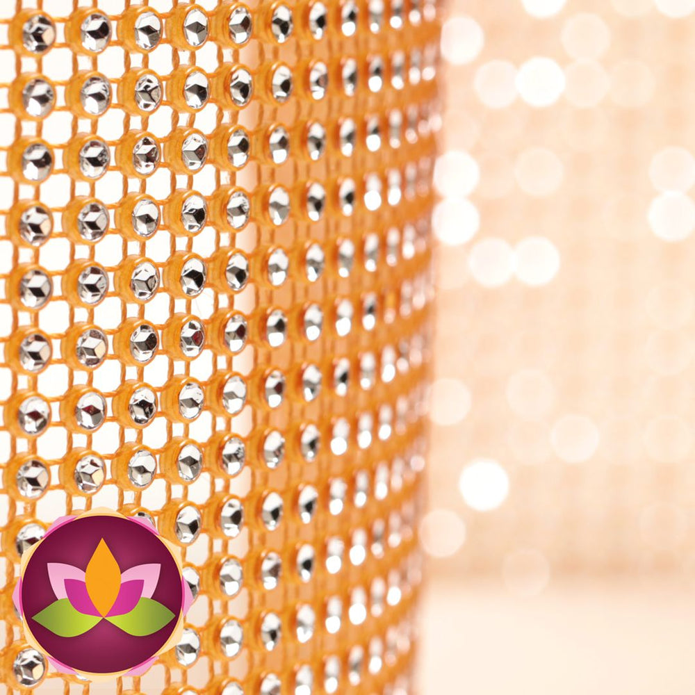 Add bling to your cake with Glam Ribbon Diamond Cake Wraps. Perfect for cake decorating rolled fondant cakes & wedding cakes. Cake decoration. Diamond Mesh. Citrus Allure Luxury Glam Ribbon - Cake Wrap