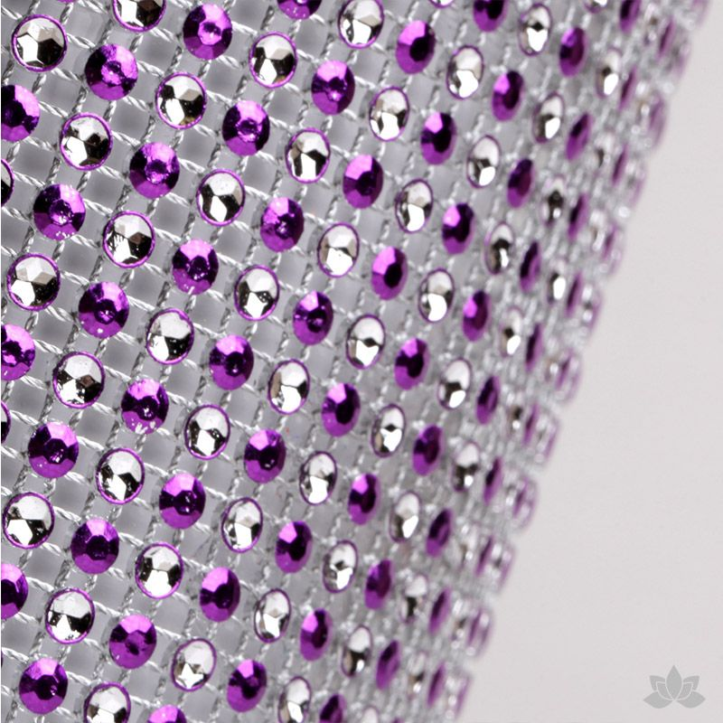 Add bling to your cake with Glam Ribbon Diamond Cake Wraps. Perfect for cake decorating rolled fondant cakes & wedding cakes. Cake decoration. Diamond Mesh. Purple Polka Dot Glam Ribbon - Cake Wrap