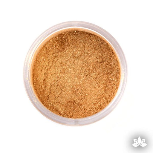 Old Gold Luster Dust Colors food coloring perfect for cake decorating fondant cakes, cupcakes, cake pops, wedding cakes, and sugarflowers. Dusting color. Cake supply.