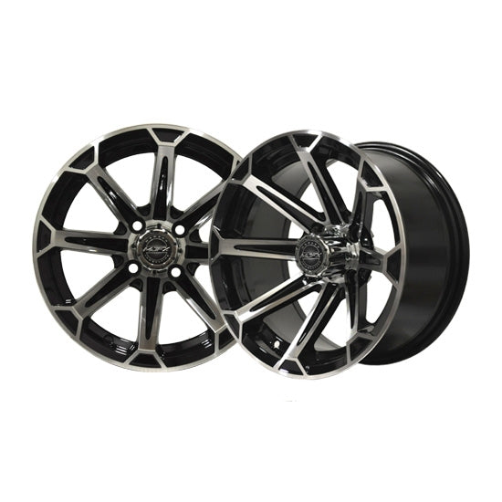 12x7 MJFX Machined/Black Vortex Wheel