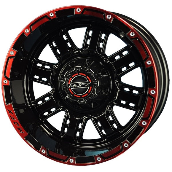 14x7 MJFX Black/Red Transformer Wheel