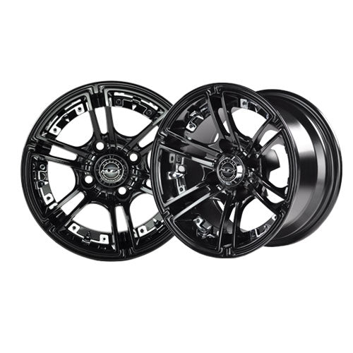 12x7 MJFX Black Mirage Wheel
