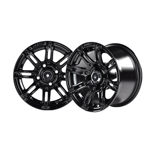 12x7 MJFX Black Illusion Wheel