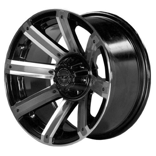 "14"" MJFX Avenger Machined & Black Wheel with Optional Color Inserts (3:4 Offset)"