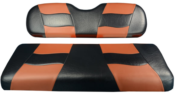 Madjax Riptide Black/Moroccan Two-Tone Club Car Precedent Front Seat Covers (Fits 2004-Up)