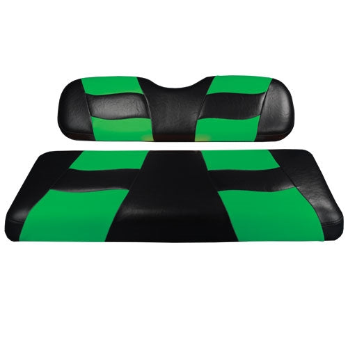 Madjax Riptide Black/Lime Cooler Green Two-Tone Genesis 150 Rear Seat Covers