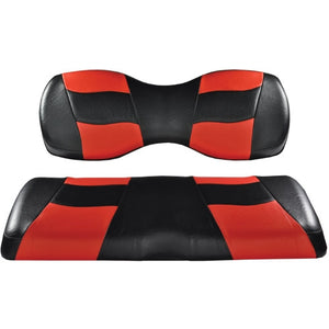 Madjax Riptide Black/Red Two-Tone Genesis 250/300 Rear Seat Covers