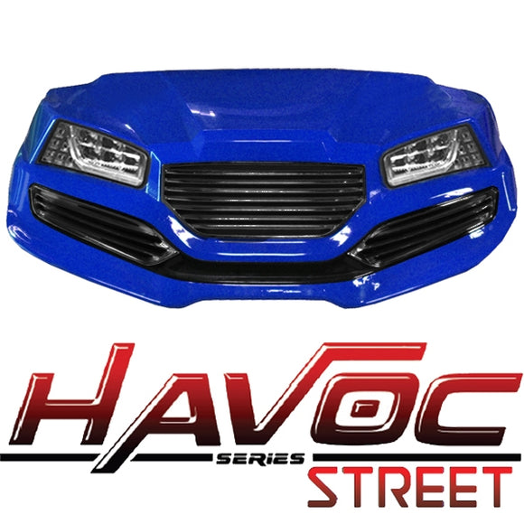 Yamaha G29/Drive HAVOC Street Style Front Cowl Kit in Blue (Years 2007-2016)