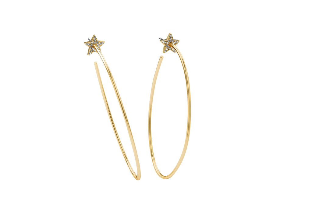 Talon Pave Star Hoops
