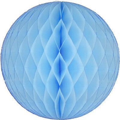 Pale Blue Honeycomb Ball