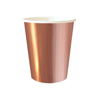 Rose Gold Foil Cups (10 pack)