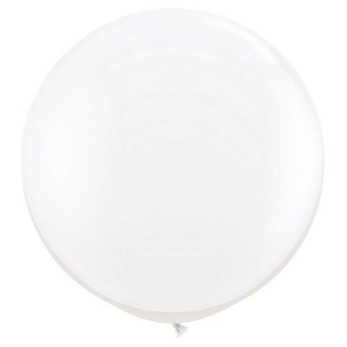 White Giant 90cm Round Balloon