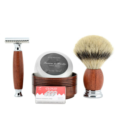 DOUBLE EDGE RAZOR & SHAVE BRUSH SET