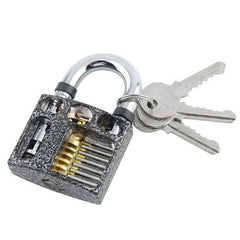 Cut Away 7-Pin Practice Padlock per Lock Picking - UKBumpKeys