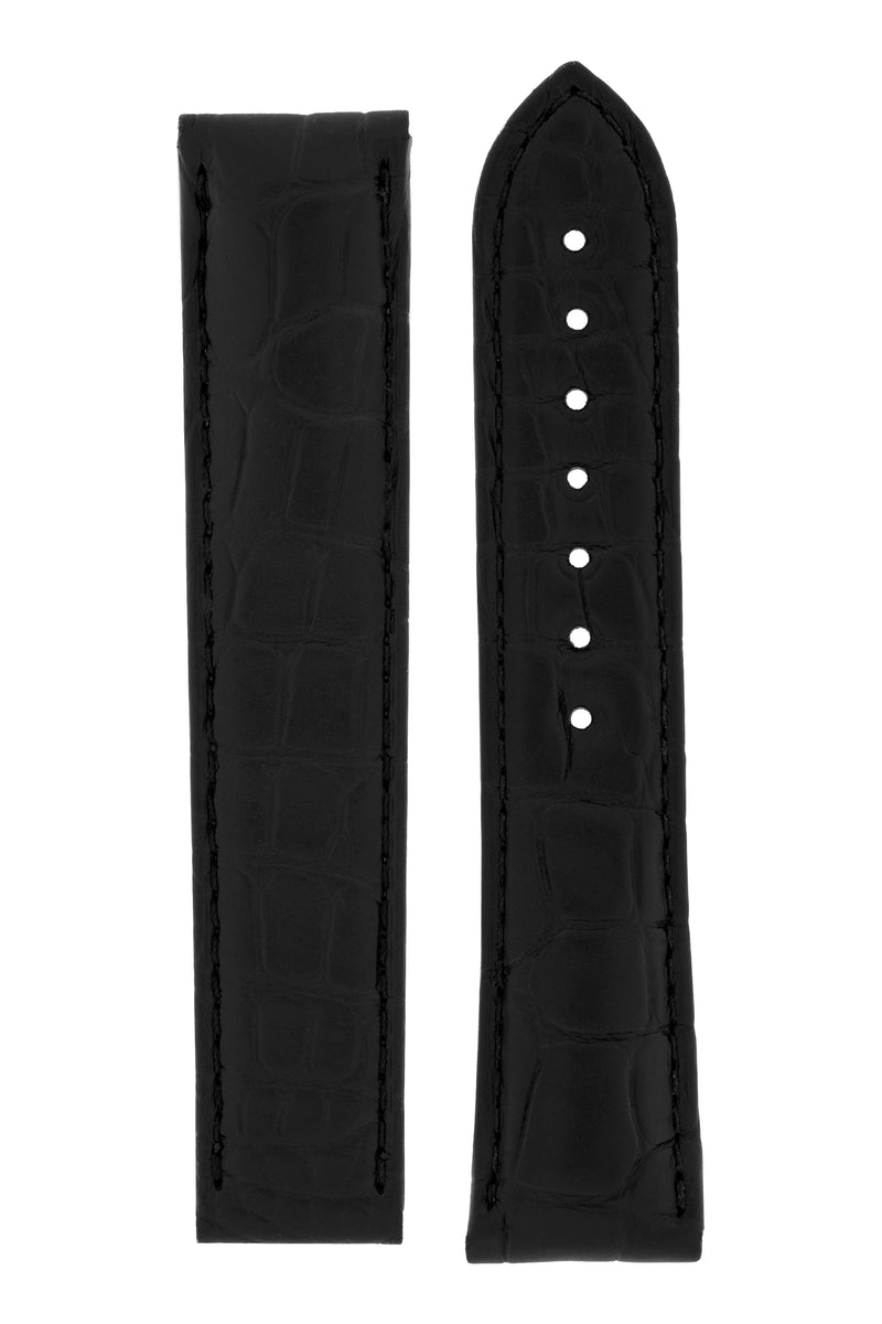 OMEGA 98000278 Aqua Terra Alligator Deployment Watch Strap in BLACK