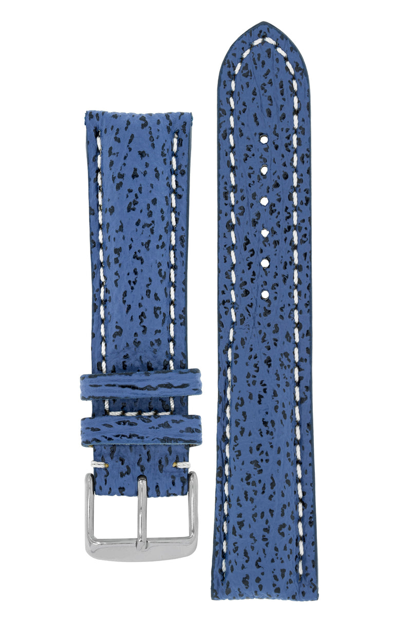 Breitling-Style Shark Watch Strap and Buckle in NIGHT BLUE