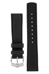Hirsch RUNNER Water-Resistant Calf Leather Watch Strap in BLACK