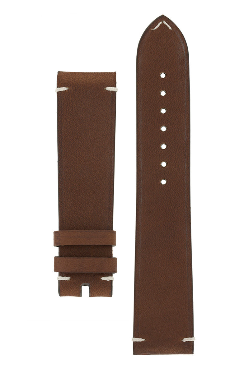 OMEGA '#SPEEDYTUESDAY' Vintage Style Leather Watch Strap in BROWN