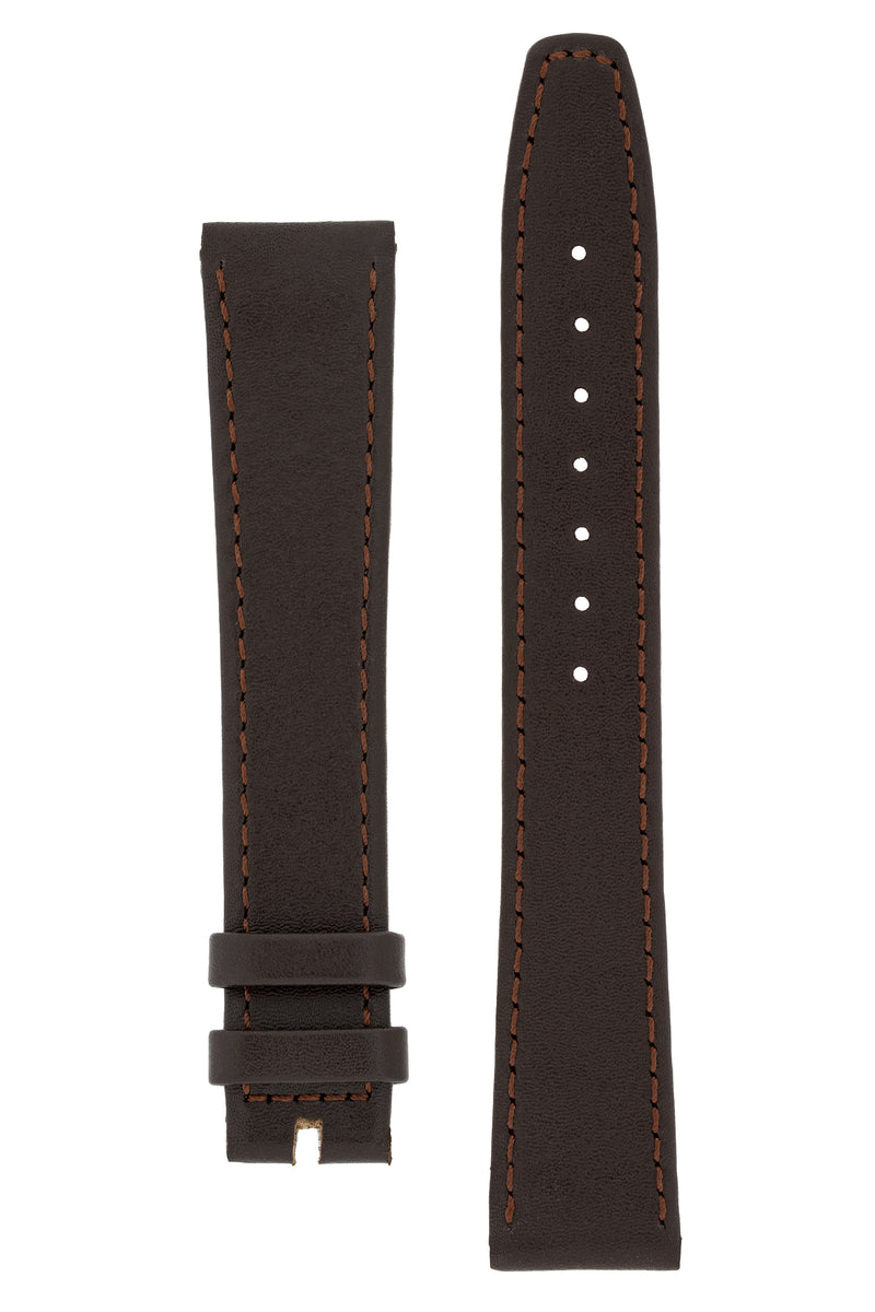 OMEGA Vintage Genuine Calf Leather Watch Strap in BROWN
