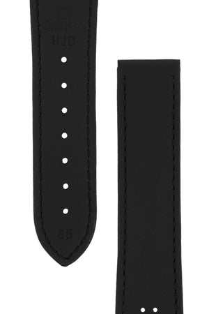 OMEGA Speedmaster Racing Leather Deployment Watch Strap in BLACK