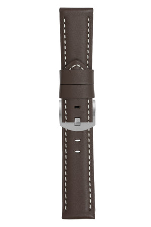Panerai-Style Calf Leather Watch Strap in CHOCOLATE BROWN