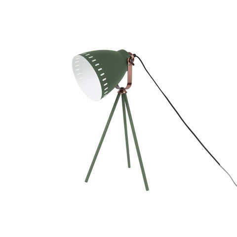 Table Lamp Mingle 3 Legs Pine Green, copper accent
