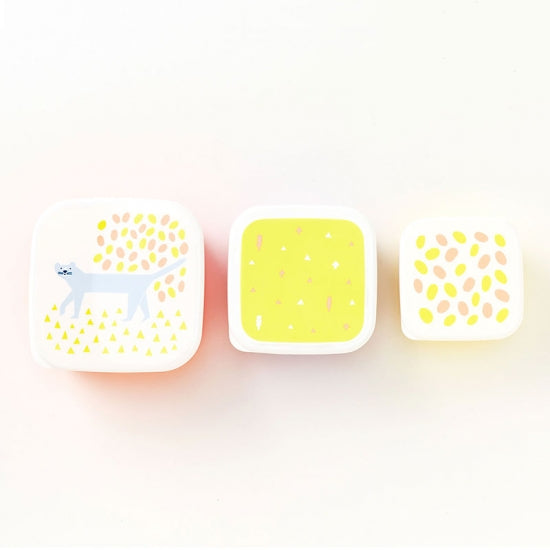 IROHA Cute Japanese Cat Square Food Storage Box (set of 3)