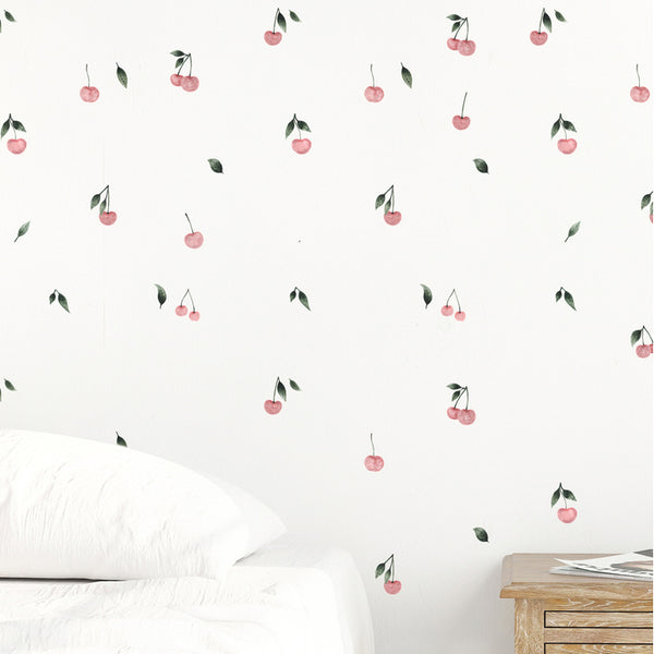 Easy Wall Sticker - Watercolor Cherries (accept pre-order)