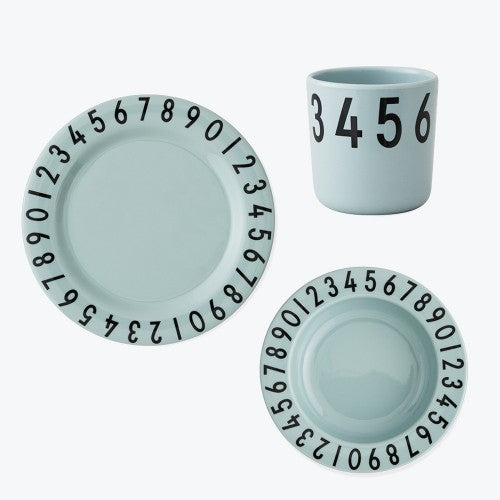 Melamine The Numbers Gift Set - Green