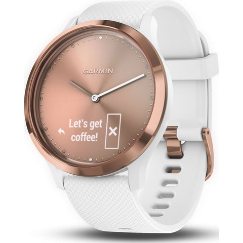 Garmin Vivomove HR Activity Tracking Smartwatch | Rose Gold/White 010-01850-12