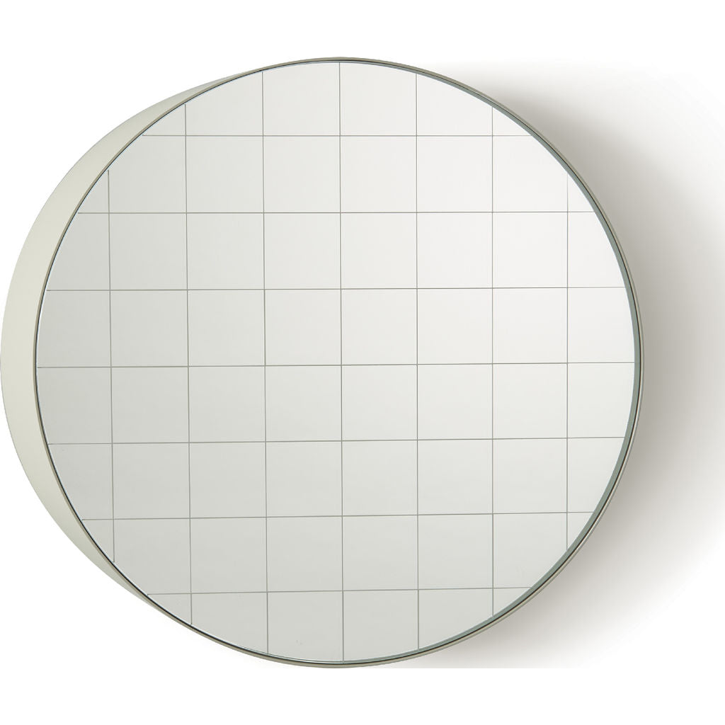 Atipico Centimetri 49 Wall Mirror | Silk Gray/White 7882