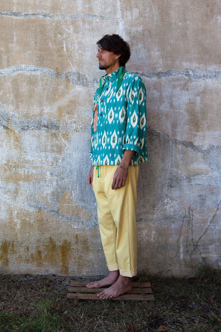 Ikat Patch Pocket Pullover
