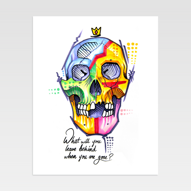 Urban Art Company - King Redd - What Will You Leave Behind - Limited Print