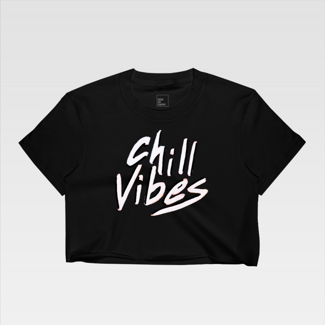 Urban Art Company - Ked Kevin - Chill Vibes - Crop Top - Black