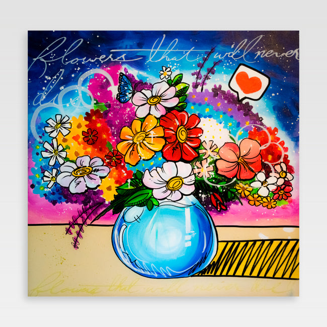 Urban Art Company - King Redd - Flowers That Will Never Die - Canvas