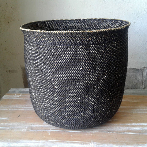 Oversized Black Tanzanian Baskets