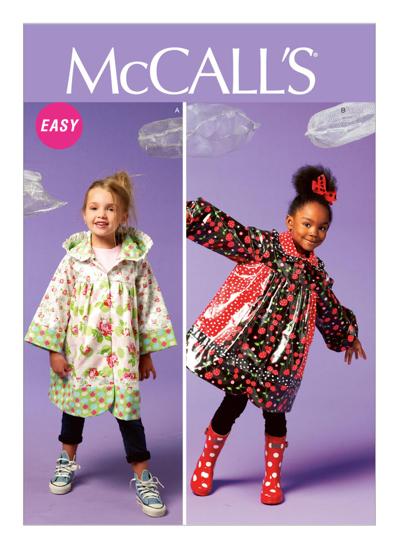 McCalls 6692 Girls Raincoat Sewing Pattern