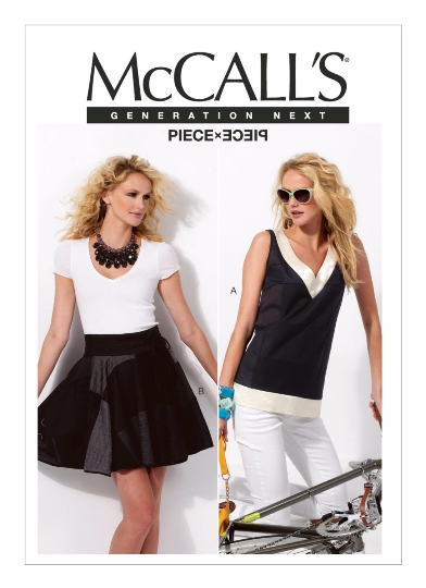 M6712 McCall's 6712 Wrap Skirt and Top Sewing Pattern - Out of Print