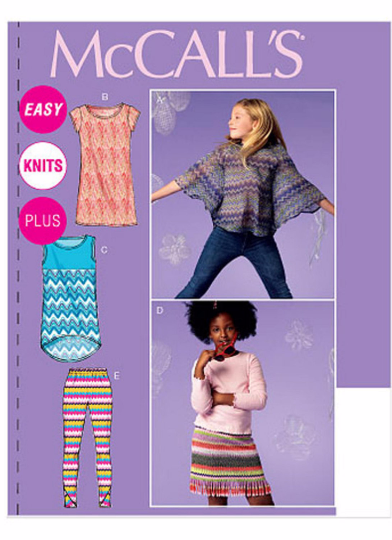 McCalls 6693 Girls Plus Size Top, Dress, Skirt and Leggings Sewing Pattern
