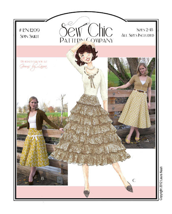 Spin Skirt Sewing Pattern by Sew Chic Pattern Company